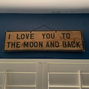 Brandy Melville Wooden Distressed Sign: I love you